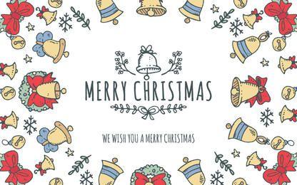 Adorável editor quadro Feliz Natal