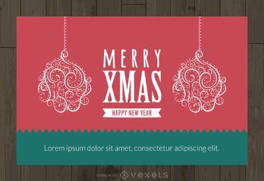 Editor de tarjetas de adornos de navidad.