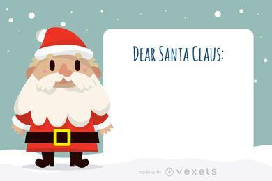 Querido fabricante de cartas de Papai Noel