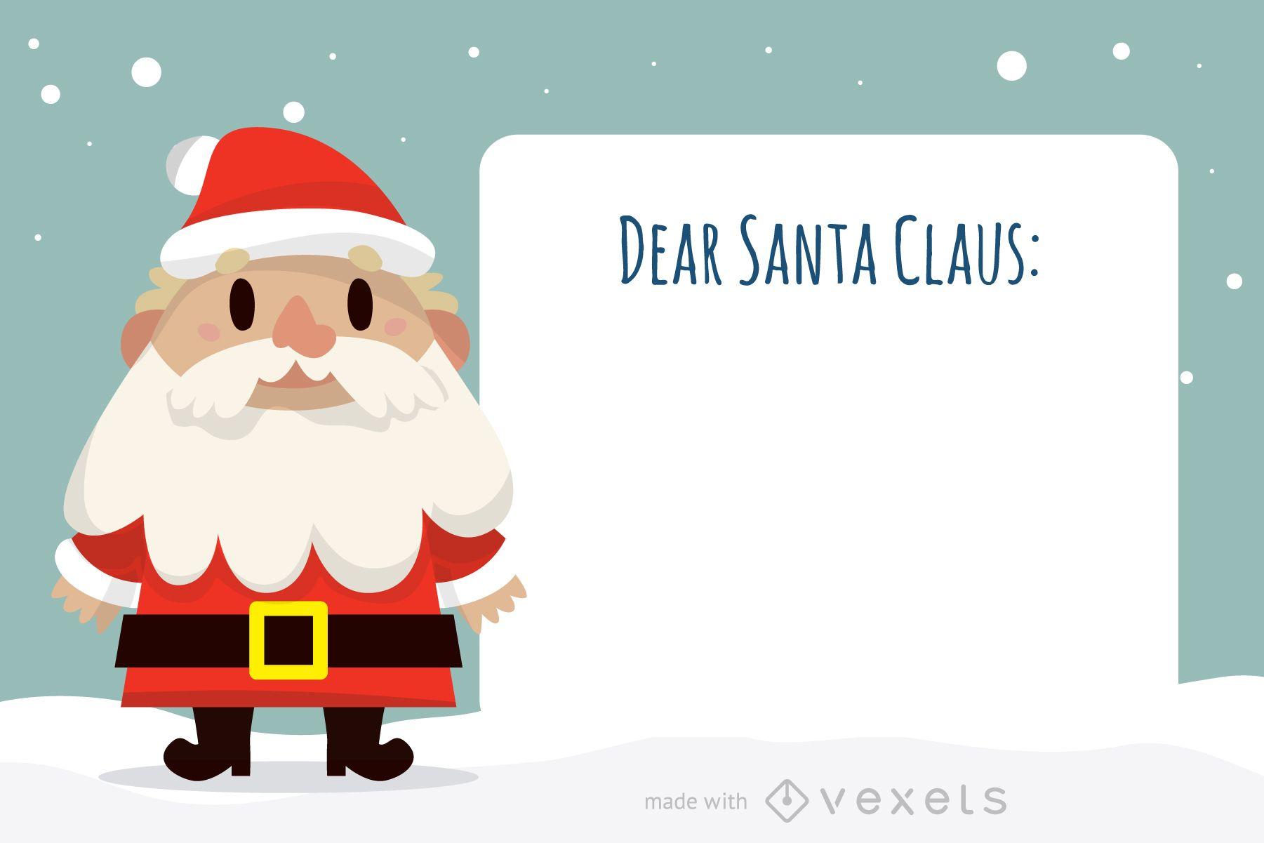 Estimado creador de cartas de Santa Claus