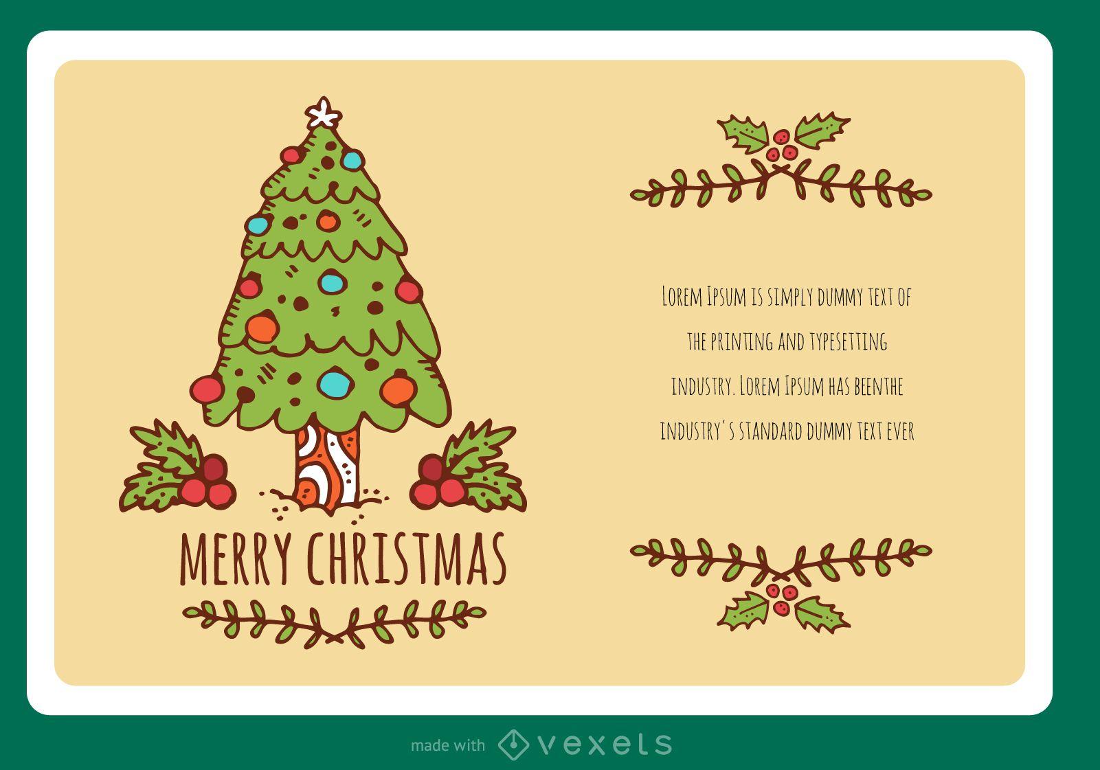 Hand-drawn stroke Christmas card creator
