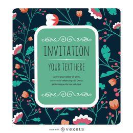 Fabricante floral de la tarjeta de la invitación