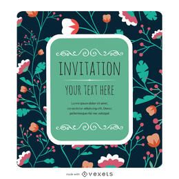 Floral invitation card maker