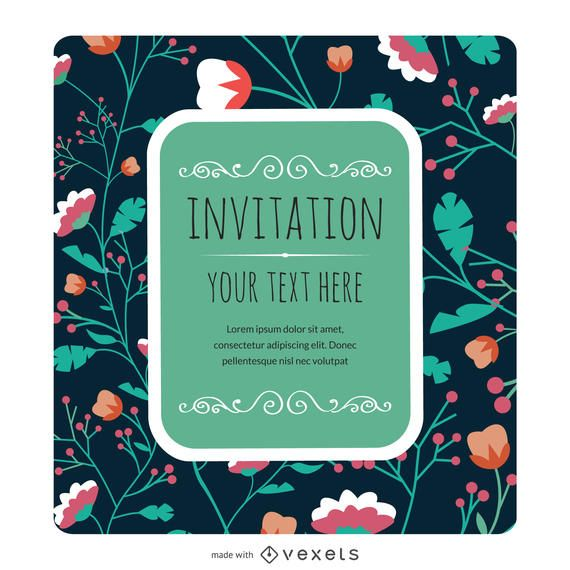 Floral invitation card maker Editable design – Invite Card Maker