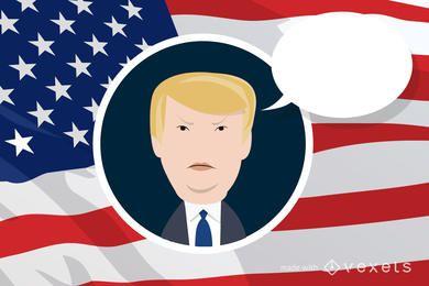fabricante de desenhos animados Donald Trump