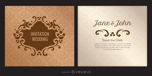 Criador de convite de cartão de casamento