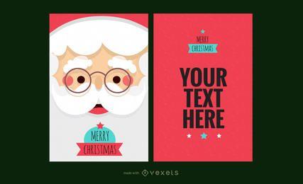 máquina de cartão de Natal da rena de Santa