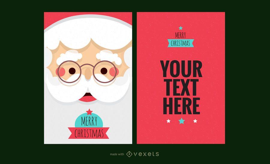 Reno de santa fabricante de la tarjeta de Navidad  Diseo editable