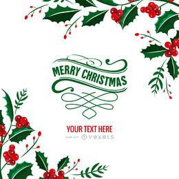 máquina de cartão de Natal do visco