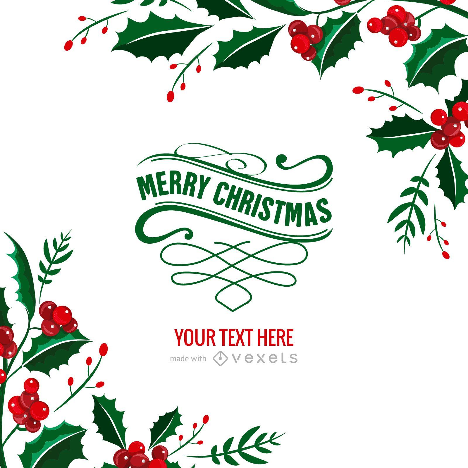 Mistletoe Christmas card maker
