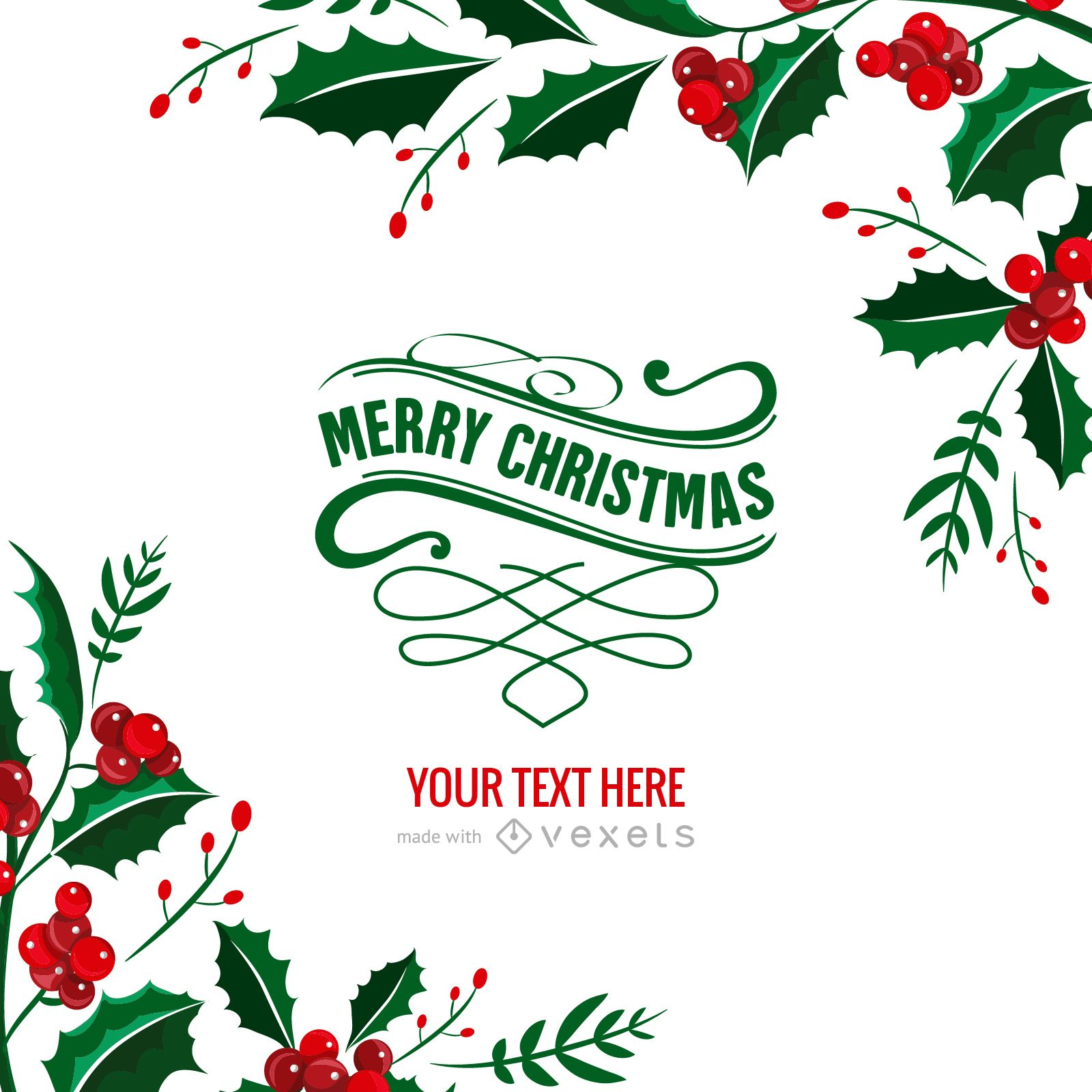 mistletoe christmas card maker download large image 1600x1600px - Christmas Photo Card Maker