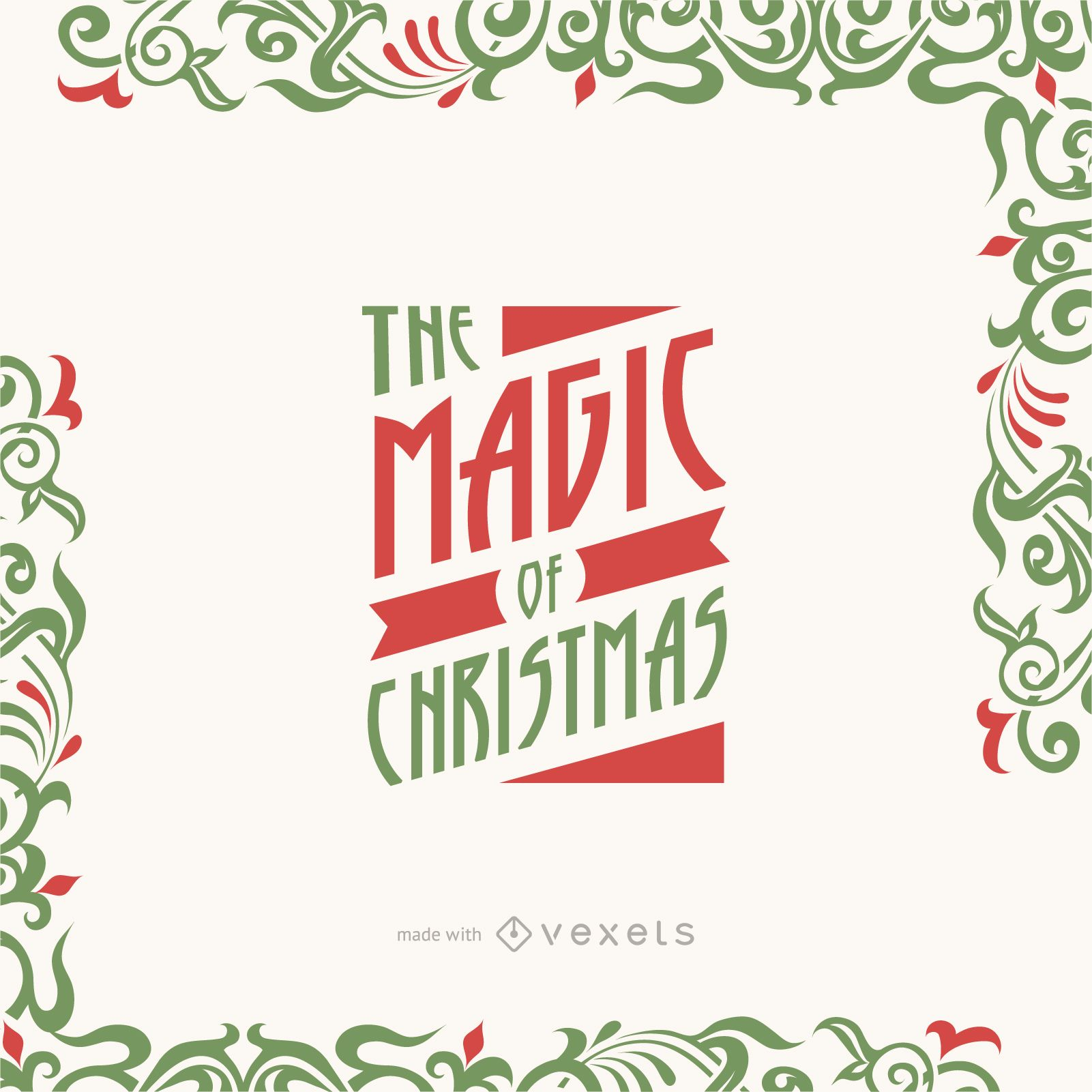 Editable Christmas greeting card maker