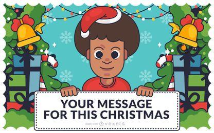 Diversity race gender Christmas card