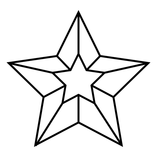 3d star nautical Transparent PNG