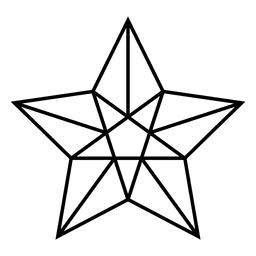 3d star stroke icon
