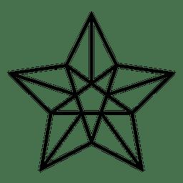 icono de trazo Estrella 3d
