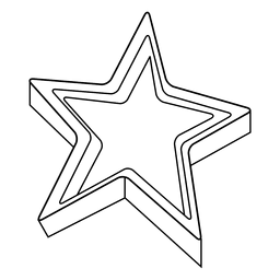 3d star stroke icon 01