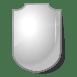 Glänzendes Emblemschild grau