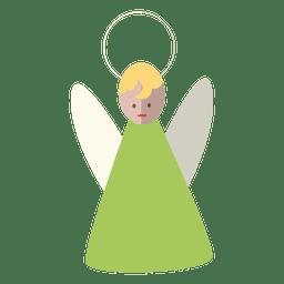 Ícone plana de anjo 14