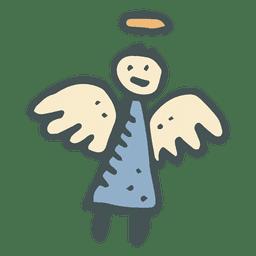 Ícone dos desenhos animados de anjo mão desenhada 24