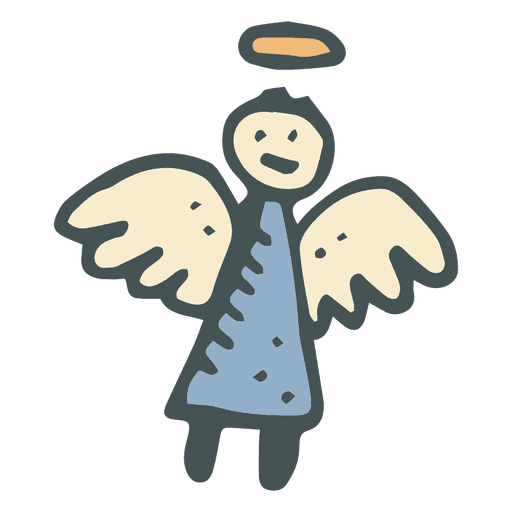 Angel hand drawn cartoon icon 24