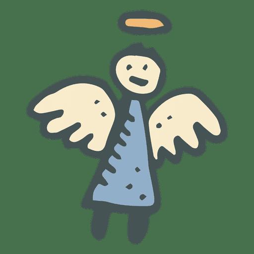 Ángel icono de dibujos animados dibujados a mano 24