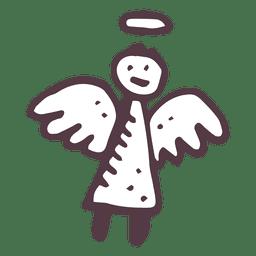 Icono dibujado a mano de angel 25