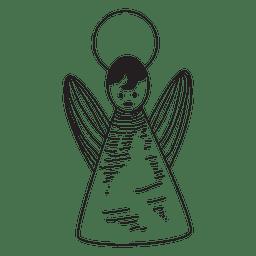 Icono dibujado a mano de ángel 41