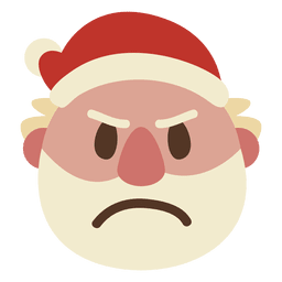 Emoticon de rosto de Papai Noel com raiva 51