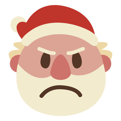 Angry Santa Claus Face Emoticon 51 Transparent Png Svg Vector