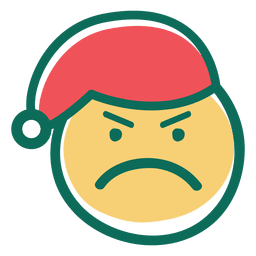 Angry santa claus hat face emoticon 33