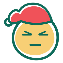 Angry squint eye santa claus hat emoticon 34