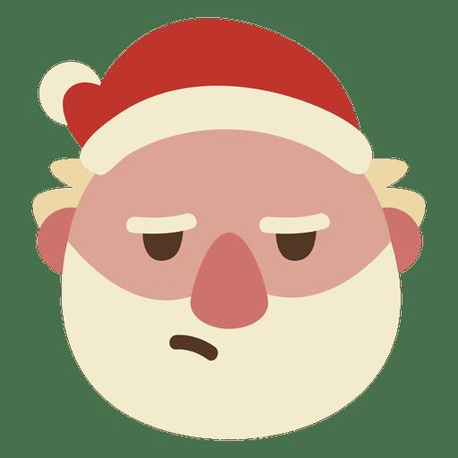 Annoyed santa claus face emoticon 64