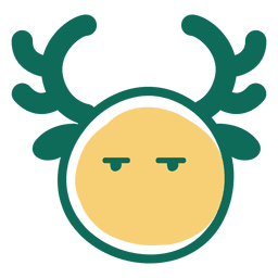 Bored antlers face emoticon 32