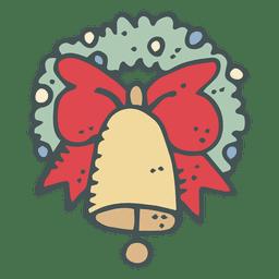 Icono dibujado a mano corona campana corona 40