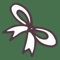 Bow hand drawn icon 17