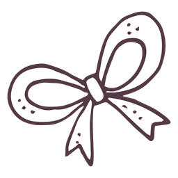 Bow hand drawn icon 5