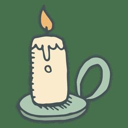 Candle hand drawn cartoon icon 10