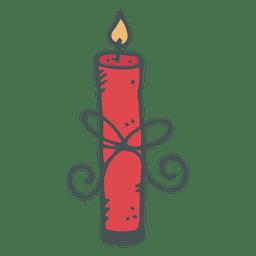 Candle hand drawn cartoon icon 3