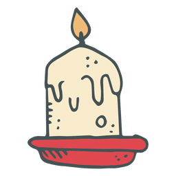 Candle hand drawn cartoon icon 6