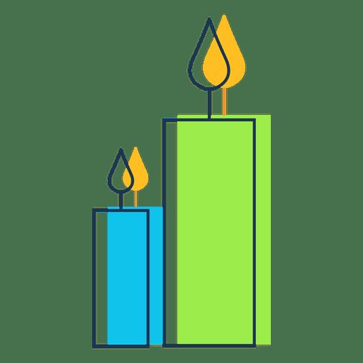 Candles cartoon icon 33