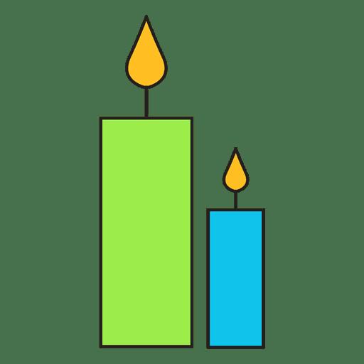 Candles cartoon icon 49