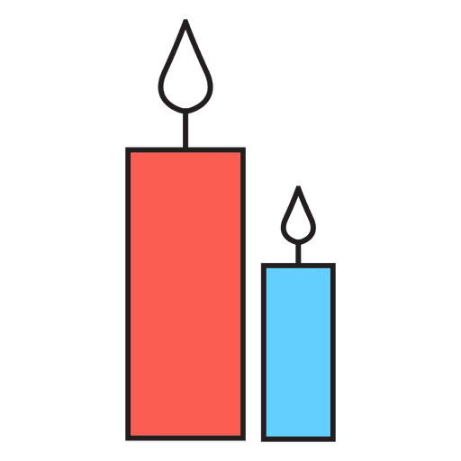 Candles cartoon icon 45