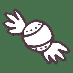 Caramelo dibujado a mano icono 21