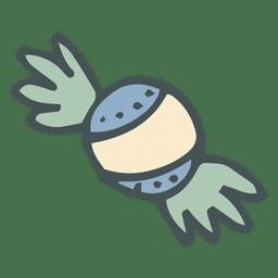 Ícone de desenho animado de mão desenhada de tarja de doces 23