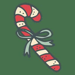 Candycane hand drawn cartoon icon 10
