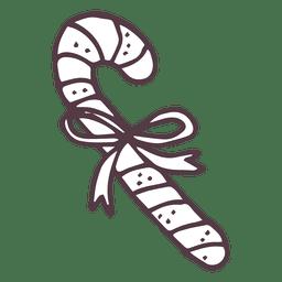 Candycane hand drawn icon 8