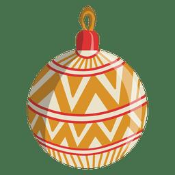 Ícone dos desenhos animados de bola de Natal 105