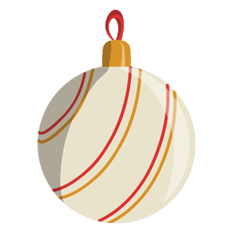 Christmas ball cartoon icon 108
