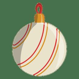 Icono de dibujos animados de bola de Navidad 108